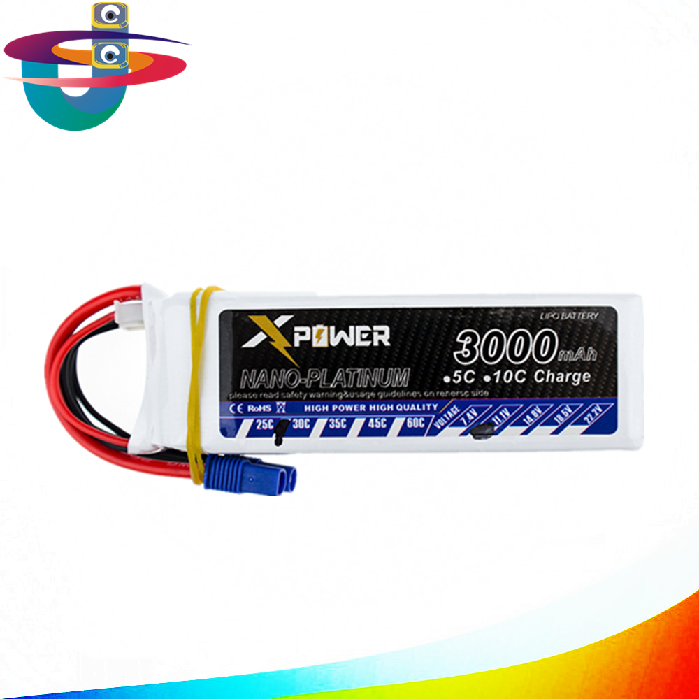 lipo 3s 11.1v 3s battery 3000mAh 30C max 35C EC3 Xpower lithium batteries for RC drone Helicoptes Airplane parts<br>