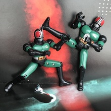 Hot Toy Garage Kit 14cm Figurine Masked Rider Kamen Black RX Superman Loose Toy Collectible Figure Doll Model Toy for Gifts