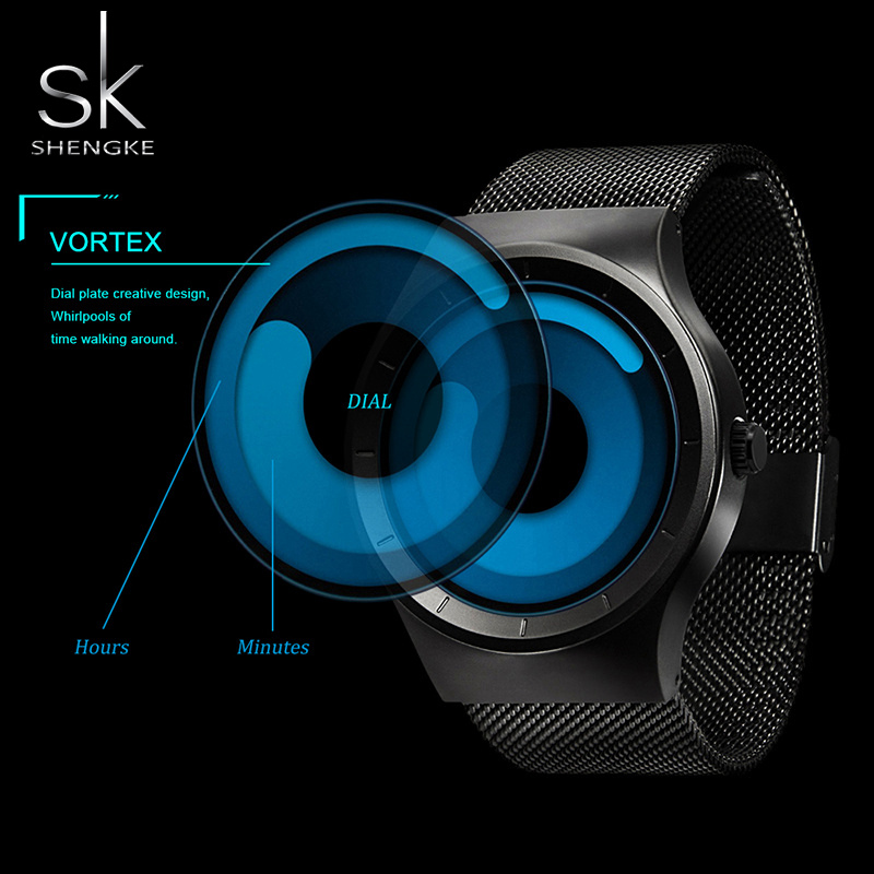 SK Original Brands Wristwatches Mens Sports Watch Steel Mesh Strap Waterproof Male Chic Quartz Clock Limited Edition Timepieces<br><br>Aliexpress