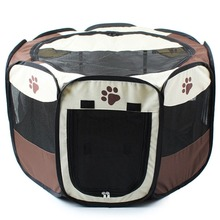 3 Colors Portable Pet Dog House Cage Folding Dog Cat Outdoor Tent Bed Comfortable Breathable Big Space Kennel For Pet Dogs Cats(China)