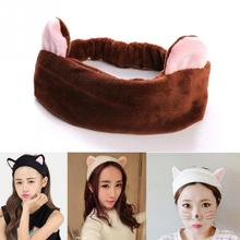Lovely Cat Ears Design Short Plush Beauty Hairband Head Band Party Gift Headdress Hair Accessories Makeup Tools 7 Colours