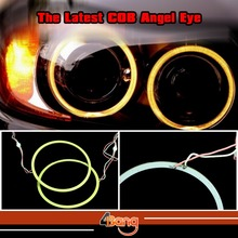 1x 80mm COB LED Angel Eyes Car Headlight White DRL Daytime Running Rings For HID Projector Lens Fast Shipping W/ Tracking No.