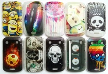 New Clear Covers For Blackberry 9900 Case Plastic Hard Protective Back Cover Drawings Free Shipping Phone Cases