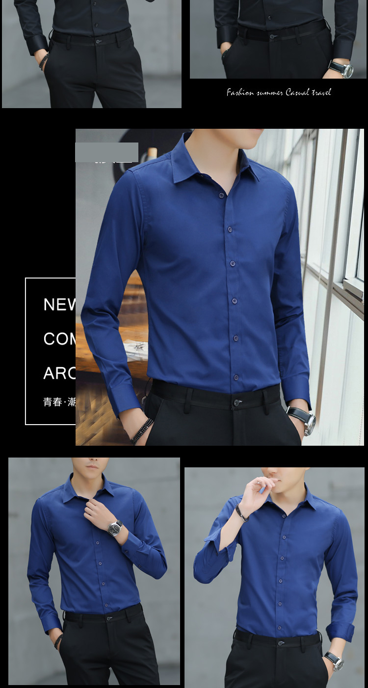 Brand New Cotton Breathable Business Casual shirts Fashion Short Sleeve Male Tops Tee Fashion Stand Down Collar shirt ZT024 30
