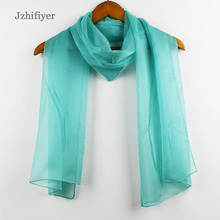 Free Shipment 30pcs/Lot High Quality 32 Colors Mixed Summer Style 180*47CM Women 30D Chiffon Fabric Solid Plain Silk Scarves(China)