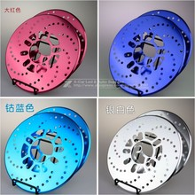 New Listing 2pcs Car Universal Thicken Aluminum Disc Brake Rotor Racing Covers Drum Decorative 25cm Red Blue Golden Black/Yellow