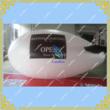 4m Long White Inflatable Airship / Blimp / Zeppelin with your LOGO for Different Events / Digital printing