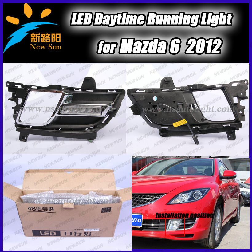 Car Specific LED Daytime Running Light  for Mazda 6 2012, LED Car DRL lamp Fog Driving Light 10W High Power super bright<br><br>Aliexpress