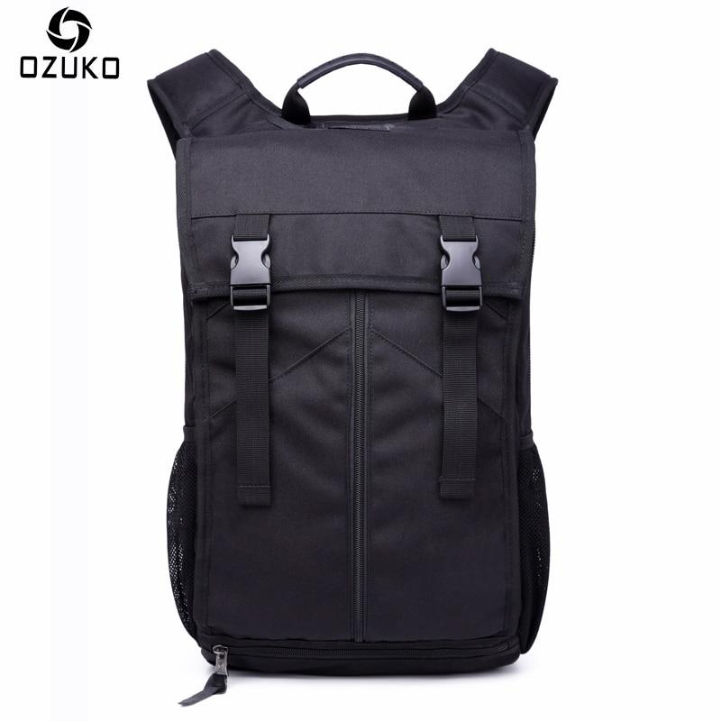 New OZUKO Men Backpack Multifunctional Fashion Casual 15/16 inch Laptop Backpack Waterproof Travel Bag Computer Bag School Bags<br>