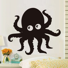 Cute Octopus Wall Stickers Kitchen Bathroom Waterproof Wall Decorative Decals Cartoon Design Kids Room Decoration Accessories(China)