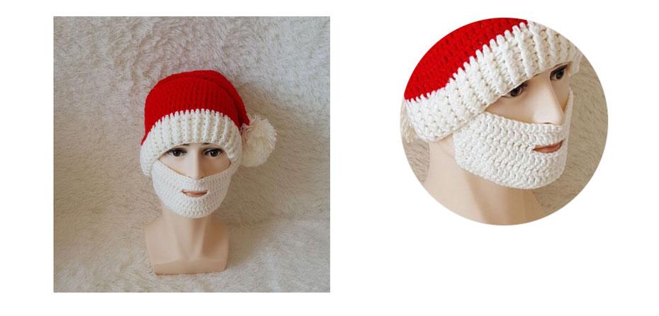 Compre Novedad Ropa Accesorios Sombreros Gorras Barba Santa Claus ...