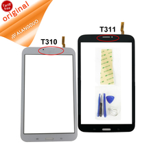 ALANGDUO For Samsung Galaxy Tab 3 8.0 T311 T310 Touch Screen Digitizer Replacement Assembly Front Glass Panel Black & White
