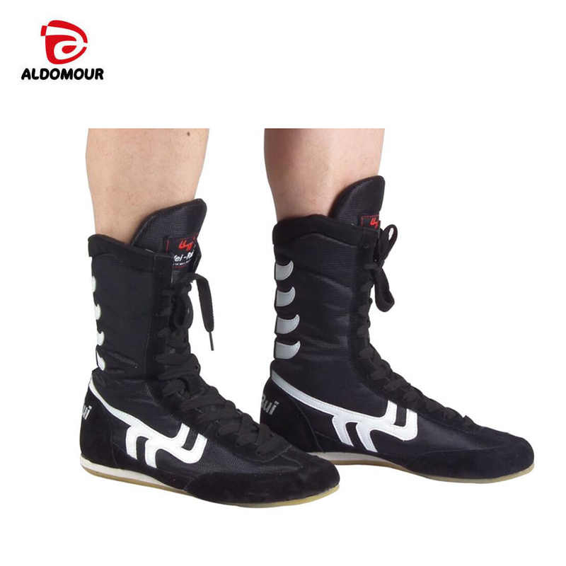 Detail Feedback Questions about ALDOMOUR Authentic Wrestling Shoes For Men  Training Shoes Tendon at the end Leather Sneakers Professional Boxing Shoes  on ... 5b007150ead0