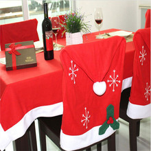 Hot sale Xmas Christmas  Dinner Party Ornament Gift Santa claus Red Tablecloth Festival Decorations For home house living room