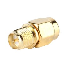Free For RF Coaxial Cable Gold Plated Color RP SMA Female Jack to SMA Male Plug Straight Mini Jack Plug Wire Connector Adapter(China)
