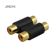 JINCHI Audio plugs RCA female pair female flower head AV audio cable pair connector two pairs of two extension lines(China)