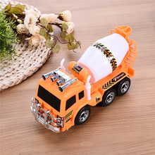 Electric Toy Car Lamplight Music Universal Cement Mixer Simulation Engineering Vehicle Educational Toy Car Models Gifts(China)