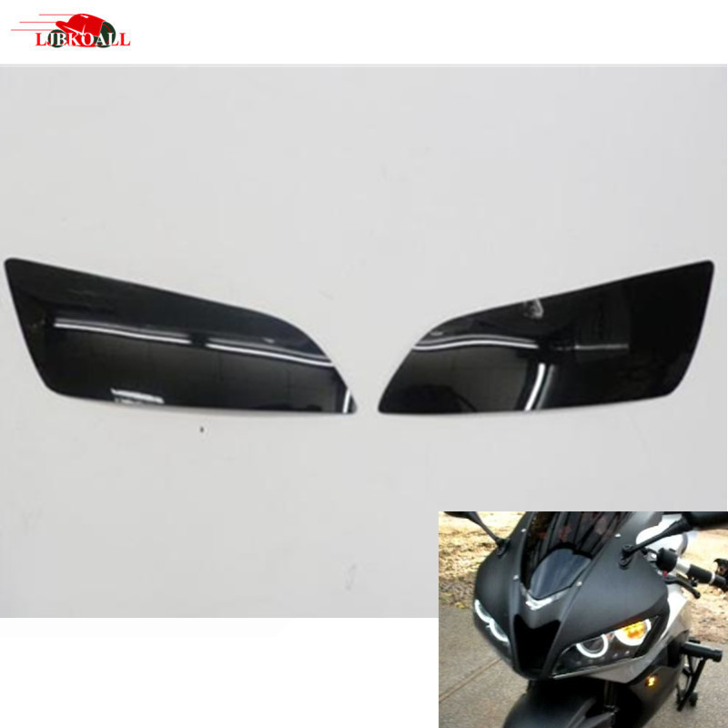 2 Pcs High Quality ABS Plastic Smoke Headlight Cov...