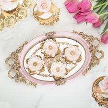 European round tray decoration for cupcake jewelry tray cupcake plate perfume holder wedding party supplier for cake