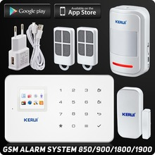 Kerui G18 Wireless Phone app GSM Alarm System TFT Color Display Built-in Siren For Home Security Alarm System 99 Wireless Zone