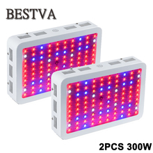 2PCS USA/DE/AU/UK  Stock 3year Warranty 300W Full Spectrum With IR&UV LED grow light for Medical Flower Plants & Bloom(3W Leds)