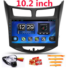 "10.2""android Car gps navigation for Hyundai Solaris/Verna 2014 2015 2016 2011 2012 2013 car dvd radio video audio player WIFI BT"