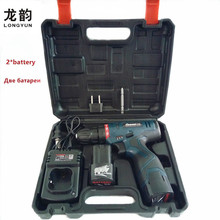 16.8V Rechargeable Lithium Battery*2 Cordless home Electric Drill bit wall tile Electric Screwdriver Power Tool box Plastic case