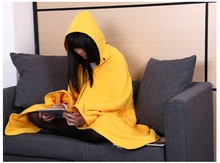 Mi Fa La Brand 100*150cm Wearable Snuggie Blankets With Storage Bag Fleece TV Sofa Blanket Throw with Sleeves Home dress Clothes