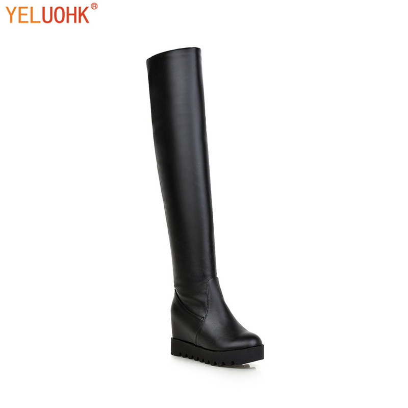 Over The Knee Boots Women Winter High Boots For Women Platform Thigh High Boots Female Winter Shoes Big Size<br>