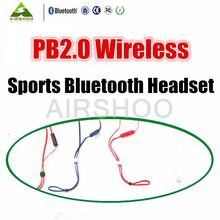 Best Version Wireless bluetooth In-Ear Earphones PB2 Bluetooth Headphones Power MP3/MP4 Cellphone Retail box With Mic sport