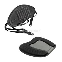 Black Sit On Top Standard Kayak Back Rest Seat Support + Seat Cushion Pad