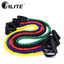 SILITE Resistance Bands Pull Rope Workout Fitness Equipments with Cloth Covers Tube Bands Fabric Corssfit Excerise Latex Yoga