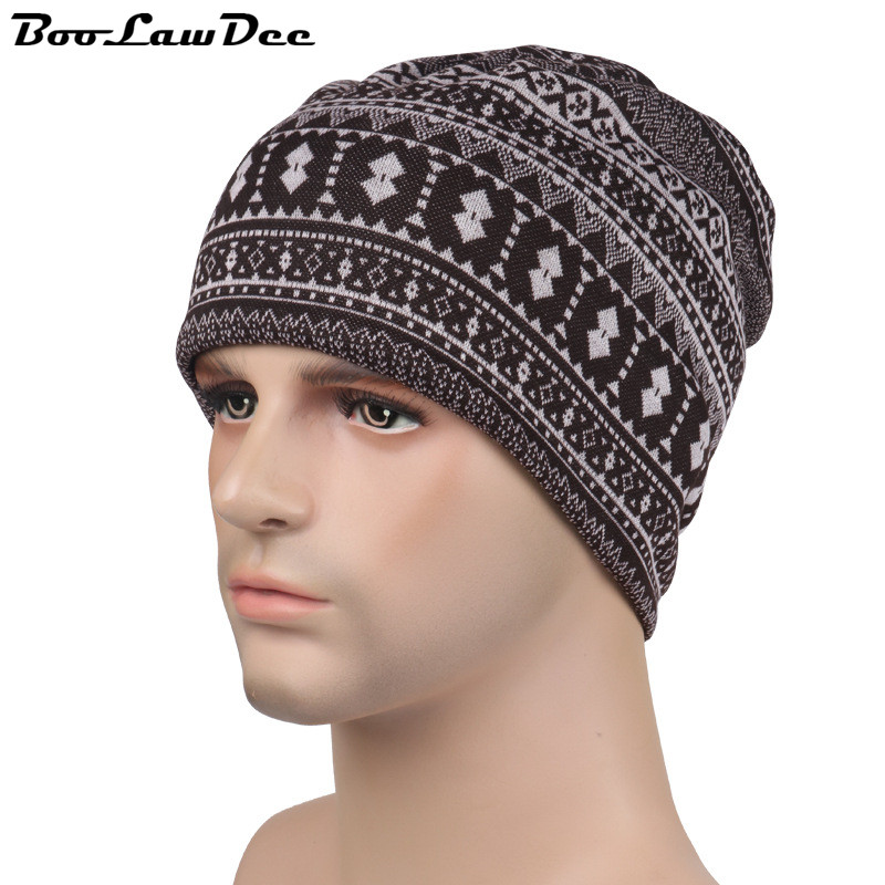 BooLawDee Winter leisure multifunction knitted cap fleece and cotton geometric with retractable string free size 58cm 4F025Одежда и ак�е��уары<br><br><br>Aliexpress