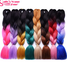 Ombre Synthetic Braiding Hair 2 Tone Dark Brown Blonde Color Sallyhair 24inch Jumbo Braids High Temperature Fiber Hair Extension