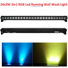 Hot Sale 2016 Led Wall Wash Light 24pcs 3W RGB 3in1 LED Line Bar Stage Lights With Running Horse Function Led Individual Control(China)