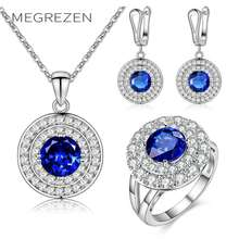 Sweets Jewellery Sets For Women Wedding Decorations Necklaces Earrings Silver Plated Jewelry With Stones New Year Gifts Ys002(China)