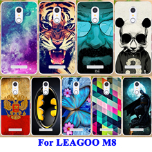 Soft TPU Phone Case For Leagoo M8 Leagoo M8 Pro 5.7 Inch Covers Housing Bag Tiger Flower Butterfly Protective Skin Shell Housing