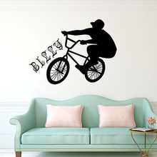 Fashion New Ride a Bicycle DIY Sport Wall Stickers Sports Decor Decal Mural Room Accessories