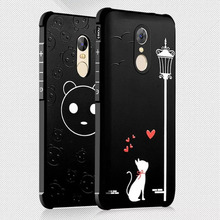 For Xiaomi Redm Note 3 Note 4 Cartoon Case Silicone 3D Relief Anti-Shock Hybrid Back Cover Silicon Cases Phone Accessories(China)