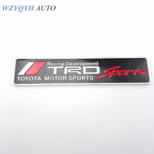 New Car Styling Racing Sport Sticker Emblem Decal For TRD Toyota Corolla Crown HIGHLAND CAMRY Body Decoration Sticker