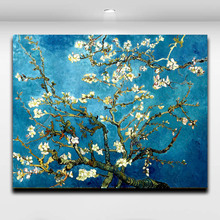 Blossoming Almond Tree By Van Gogh Reproduction Works Oil Painting Canvas Print Wall Picture for Living Room Cafe Hotel Decor(China)