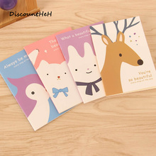 1pc Cute Mini Vintage Flower Notebook Lovely Animal Notepads for Kids Gifts Korean Stationery(China)