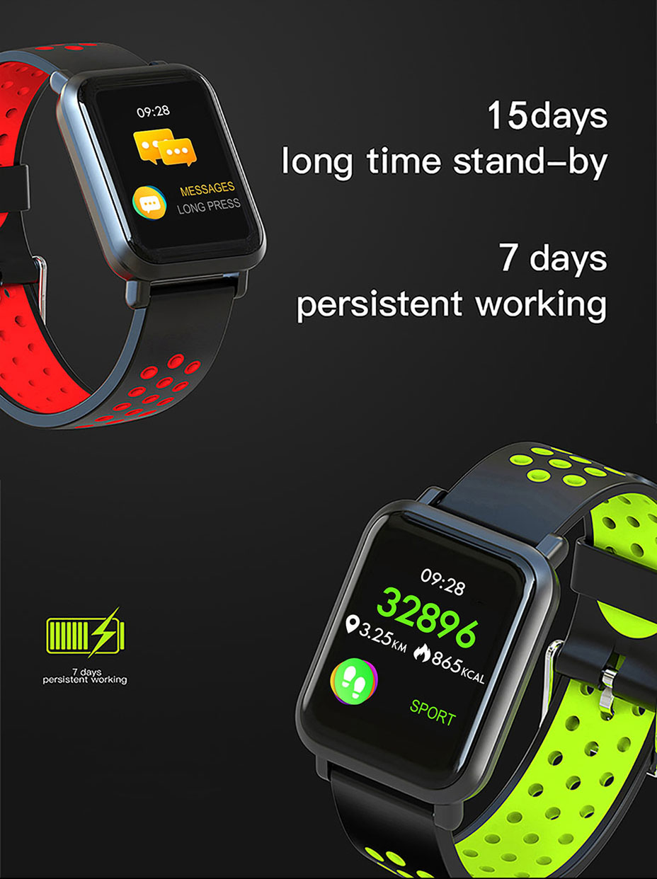 COLMI Smart Watch Men Tempered glass Fitness Tracker Blood pressure IP68 Waterproof Activity Tracker Women Smartwatch 6