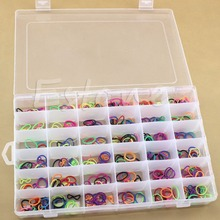 New Practical Adjustable Plastic 36 Compartment Storage Box Case Bead Rings Jewelry Display Organizer JJ2834