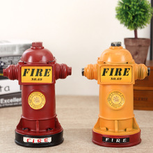 HOT Vintage Style Resin Coin Saver Fire Hydrant Shape Money Box Piggy Bank Home & Shop Decor Resin Gift Craft(China)