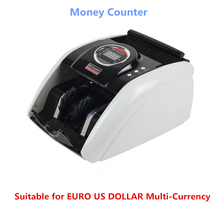 110V/220V Money Counter Suitable for EURO US DOLLAR Multi-Currency Compatible Bill Counter Cash money Counting Machine 5200UV(China)