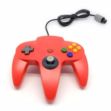 Hot Long Handle Gamepad Game Controller Pad Joystick Red For Nintendo 64 N64 System