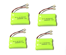 10 PCS/lot KX Original New Ni-MH AAA 3.6V 800mAh Ni MH Rechargeable Battery Pack With Plugs For Cordless Phone Free Shipping