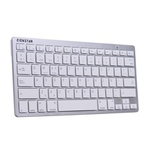 Zienstar Spanish Language Ultra Slim Wireless Teclado  Bluetooth 3.0 for ipad/Iphone/Macbook/PC computer/Android Tablet