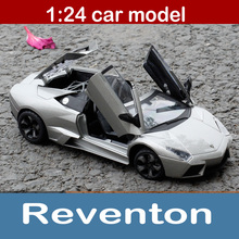 Italy Sports Car Reventon Alloy Static Model 1:24 Convertible Car Limited Edition Model Color Box Package Toys Gift For Boy(China)